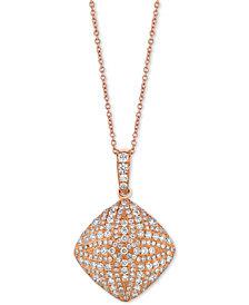 """Le Vian® Diamond Pavé 18"""" Pendant Necklace (9/10 ct. t.w.) in 18k Rose Gold"""