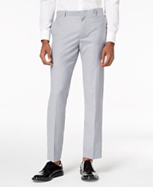I.N.C. Men's Slim-Fit Gray Suit Pants, Created for Macy's
