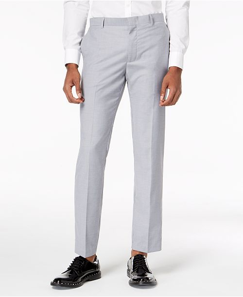 INC International Concepts I.N.C. Men's Slim-Fit Gray Suit Pants, Created for Macy's