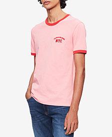 Calvin Klein Jeans Men's Contrast-Trim Logo T-Shirt