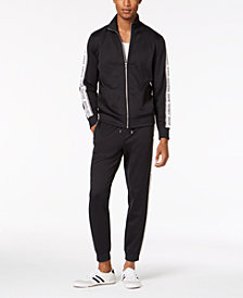 I.N.C. Men's Taped Knit Track Suit, Created for Macy's