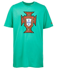 Nike Big Boys Portugal-Print Cotton T-Shirt