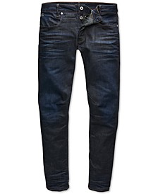 Men's Slim-Fit Stretch Dark Aged Jeans, Created for Macy's