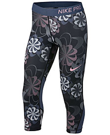 Nike Big Girls Printed Capri Leggings