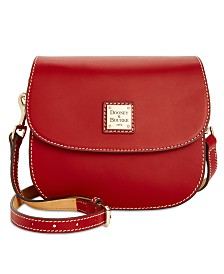 Dooney & Bourke Beacon Saddle Smooth Leather Crossbody