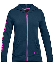 Under Armour Big Girls Rival Zip-Up Hoodie