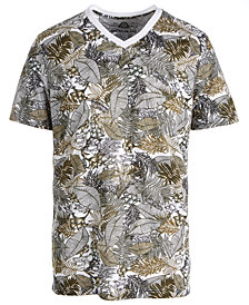 American Rag Men's Botanical Graphic V-Neck T-Shirt, Created for Macy's