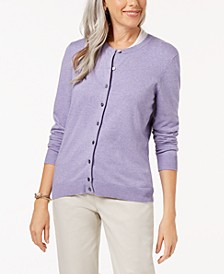 Petite Crew-Neck Cardigan, Created for Macy's