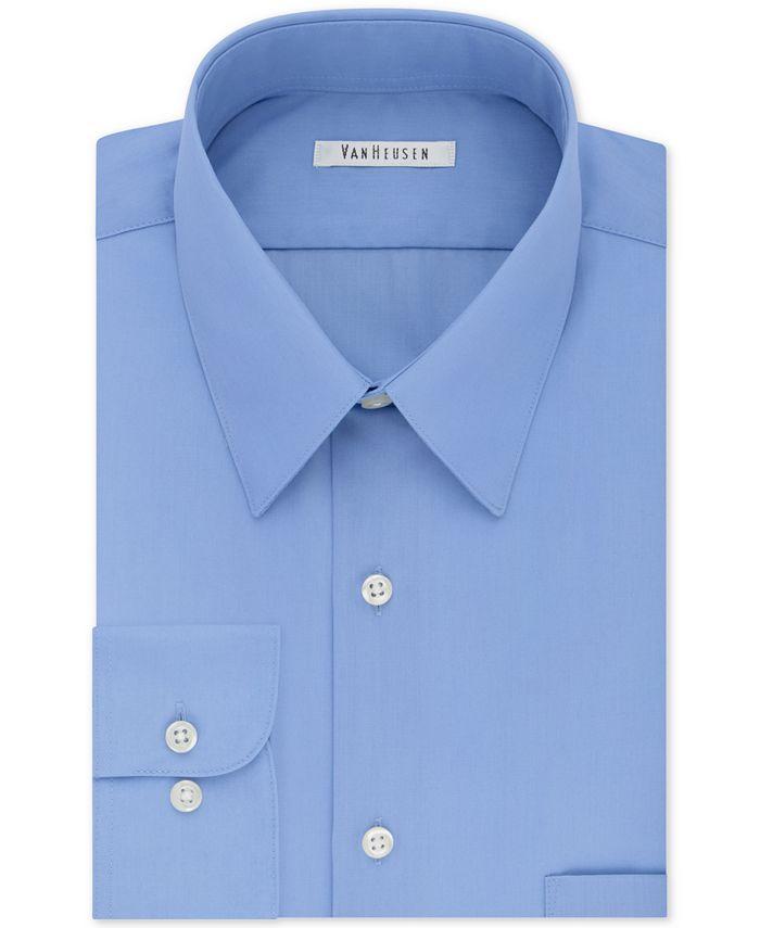 Van Heusen - Men's Tall Classic/Regular Fit Wrinkle Free Poplin Solid Dress Shirt