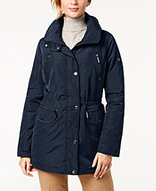 MICHAEL Michael Kors Hooded Waterproof Anorak