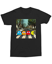 Changes Men's Abbey Road Pac-Man Graphic T-Shirt