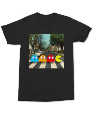Changes Men's Abbey Road Pac-Man Graphic T-Shirt