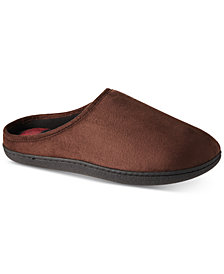 Isotoner Men's Faux-Suede Owen Hoodback Slippers With Memory Foam