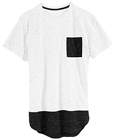 Univibe Big Boys Speckled Contrast Pocket T-Shirt