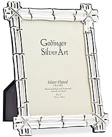 "Philip Whitney Bamboo Silver-Tone 4"" x 6"" Picture Frame"