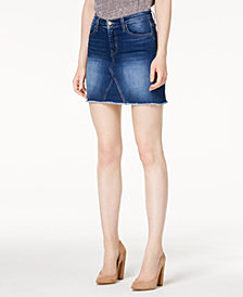 Flying Monkey Frayed Denim Skirt