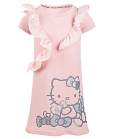 Hello Kitty Little Girls Ruffle-Trim Graphic-Print Dress
