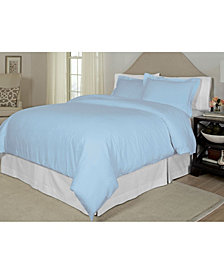 Pointehaven Printed  King/California King  Duvet Set, 300 Thread Count Cotton Sateen