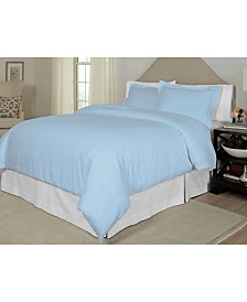Pointehaven Printed Twin Duvet Set, 300 Thread Count Cotton Sateen