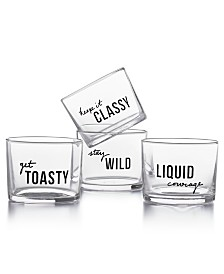 The Cellar Set of 4 Tumblers, Created for Macy's