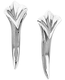 King Baby Women's Claw Spike Earrings in Sterling Silver