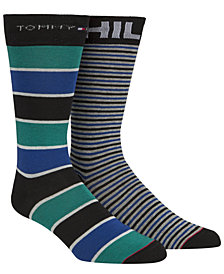 Tommy Hilfiger Men's 2-Pk. Striped Socks