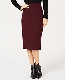 Ponte-Knit Midi Skirt