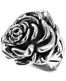 King Baby Women's Rose Ring in Sterling Silver