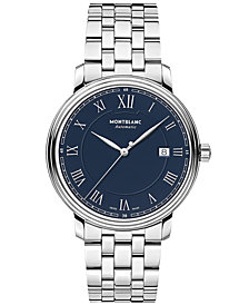 Montblanc Men's Swiss Automatic Tradition Date Automatic Stainless Steel Bracelet Watch 40mm