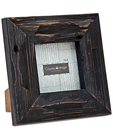 """Philip Whitney 4"""" x 4"""" Black Barn Square Picture Frame"""