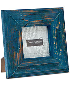 "Philip Whitney 4"" x 4"" Blue Barn Square Picture Frame"