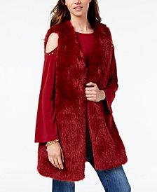 MICHAEL Michael Kors Faux-Fur Vest