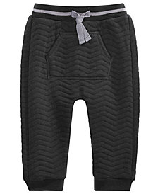 First Impressions Baby Boys Quilted Pocket Jogger Pants, Created for Macy's