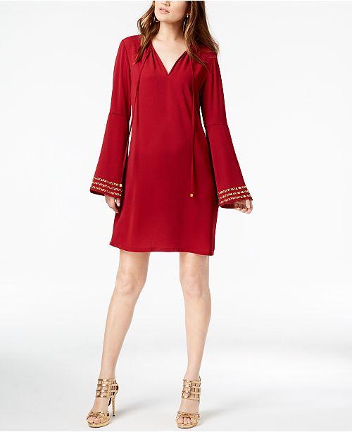 9591da700e654 Michael Kors Bell-Sleeve Tunic Dress & Reviews - Dresses - Women ...