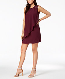Jessica Howard Petite Embellished Chiffon Overlay Dress