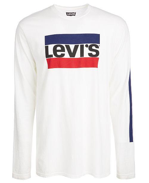 9cbe43885e91 Levi's Men's Graphic-Print Long Sleeved T-Shirt & Reviews - T-Shirts ...