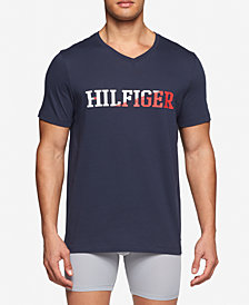 Tommy Hilfiger Men's Graphic Cotton V-Neck T-Shirt