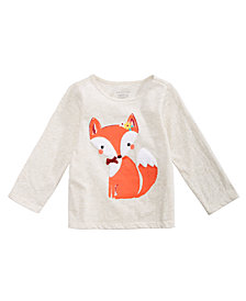 First Impressions Baby Girls Fox Graphic Top, Created for Macy's