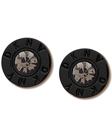DKNY Logo Crystal Ring Stud Earrings, Created for Macy's