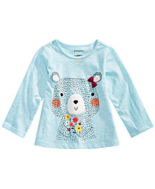 First Impressions Toddler Girls Flower Bear Graphic T-Shirt, Created for Macy's