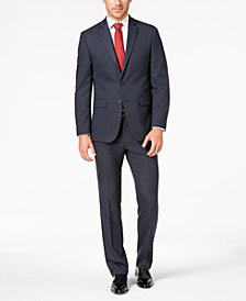Van Heusen Flex Men's Slim-Fit Stretch Blue Windowpane Check Suit