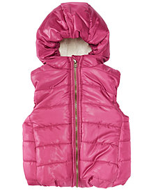 First Impressions Baby Girls Hooded Puffer Vest, Created for Macy's