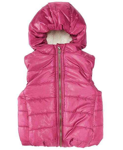adbef8efa First Impressions Baby Girls Hooded Puffer Vest