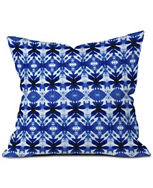 Deny Designs Wagner Campelo Shibori Tribal Indigo Throw Pillow