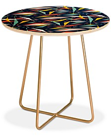 Heather Dutton Swizzlestick Party Girl Round Side Table