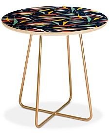 Deny Designs Heather Dutton Swizzlestick Party Girl Round Side Table