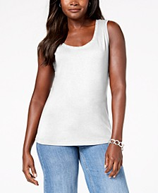 Cotton Studded Tank Top, Created for Macy's