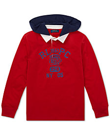 Polo Ralph Lauren Big Boys Cotton Hooded Rugby Shirt