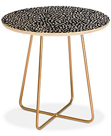 Deny Designs Iveta Abolina La Jardin Noir I Round Side Table