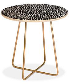Deny Designs Iveta Abolina La Jardin Noir I Round Side Table